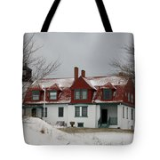 Snow At Point Betsie Tote Bag