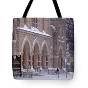 Snow At St. John's Tote Bag