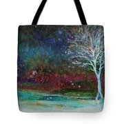 Snow At Twilight Tote Bag
