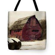 Snow Bales Tote Bag by Julie Hamilton