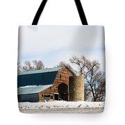 Snow Barn Tote Bag