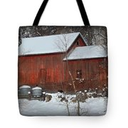 Snow Barn II Tote Bag