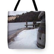 Snow Barrel Tote Bag