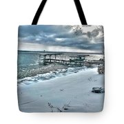 Snow Beach Tote Bag