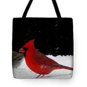 Snow Birds Tote Bag