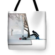 Snow Blower Tote Bag