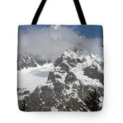 Snow Bowl In Italian Alps Tote Bag