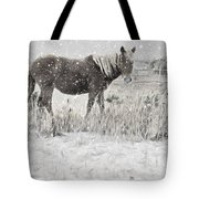 Snow By The Beach Tote Bag
