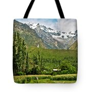 Snow-capped Andes Mountains With Snowline Above 17000 Feet-peru Tote Bag