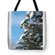 Snow-clad Pine Tote Bag