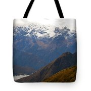 Snow Clouds In The Andes Tote Bag