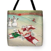 Snow Corgi Tote Bag