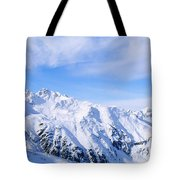 Snow Covered Alps, Schonjoch, Tirol Tote Bag