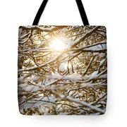 Snow Covered Branches Tote Bag
