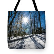 Snow Covered Forest Tote Bag