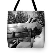 Snow Covered History Tote Bag