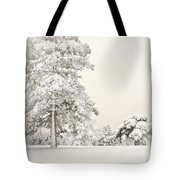 Snow Covered Tote Bag