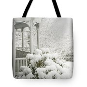 Snow Covered Porch Tote Bag