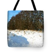 Snow Covered Riverbed Tote Bag