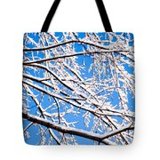 Snow Covered Tree Limb Tote Bag