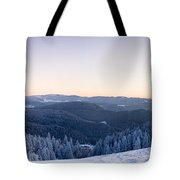 Snow Covered Trees On A Hill, Belchen Tote Bag