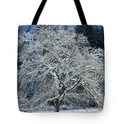 Snow Covered Winter Tote Bag