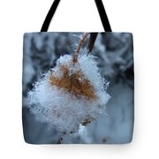 Snow Crystals Tote Bag