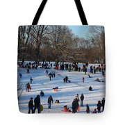 Snow Day - Fun Day At The Park Tote Bag