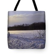 Snow Devils Playing Tote Bag
