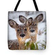 Snow Does Tote Bag