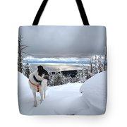 Snow Dog Tote Bag