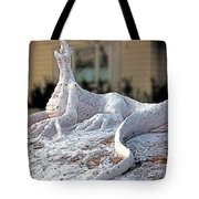 Snow Dragon Tote Bag
