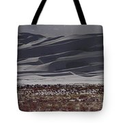 Snow Dunes By Night Tote Bag