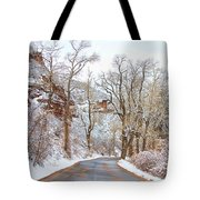 Snow Dusted Colorado Scenic Drive Tote Bag