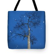 Snow Falling Where The Leaves Used To Be  Ethe  Tote Bag