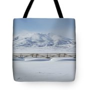 Snow Fence Sculpted Snow Tote Bag