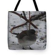 Snow Finch Tote Bag