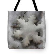 Snow Flake 01 Photo Art Tote Bag
