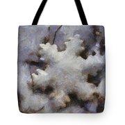 Snow Flake Enjoy The Beauty Photo Art Tote Bag