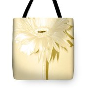 Snow Flake Zinnia Tote Bag