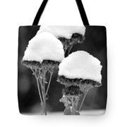 Snow Flowers Bw Tote Bag