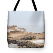 Snow Fog At Whitefish Point Tote Bag