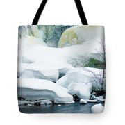 Snow Formations Tote Bag