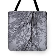 Snow Frosted Branches Tote Bag