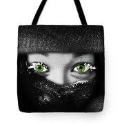 Snow Girl Square Tote Bag