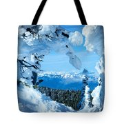 Snow Heart Tote Bag
