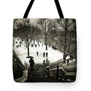 Snow In London Tote Bag