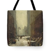 Snow In New York Tote Bag