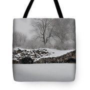 Snow In Plymouth Meeting Pa Tote Bag