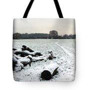 Snow In Surrey England Tote Bag